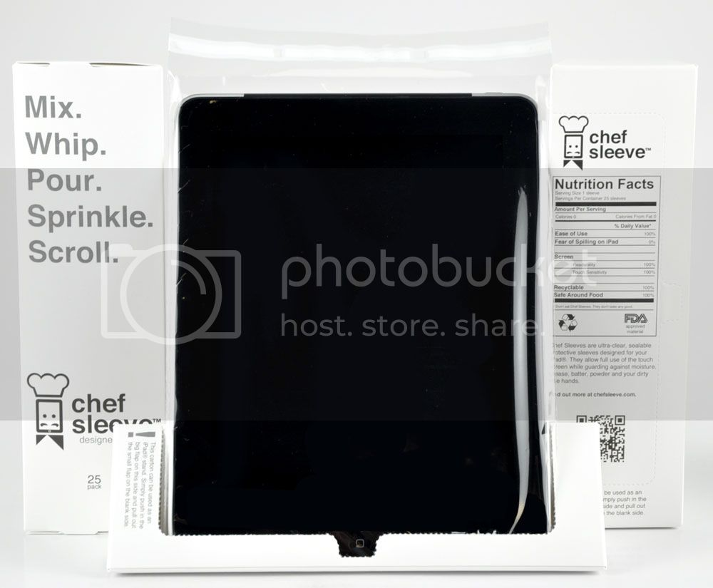 iPad Chef Sleeve -- protect your iPad while cooking